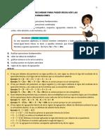 ley de los signos y orden de jerarquia de las operaciones fundamentales