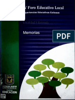 IV Foro educativo, memorias Kennedy