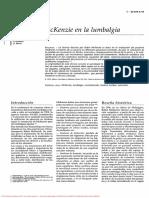 kie-38744 TECNICA DE MCKENZIE EN LA LUMBALGIA