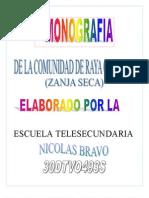 "Monografía Telesecundaria ""Nicolás Bravo"""