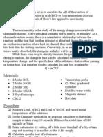AP Chemistry - Hess's Law Lab