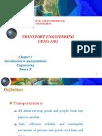 Transport Eng. Chap 1