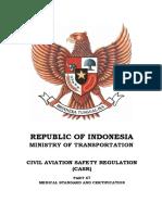 CASR Part 67 Ed. 1 amdt 0 - Medical Standard and Certification