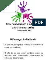 Desenvolvimento e educação das crianças surdas