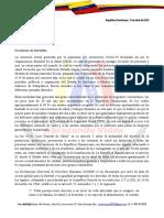 Solicitud de incorporacion de venezolanos alas medias por Covid19