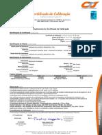 Certificado de Calibração Bomba Delta