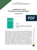 La planificación social y el concepto de deuteroaprendizaje