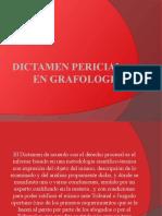 DICTAMEN PERICIAL EN GRAFOLOGIA