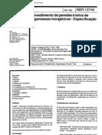 NBR 13749 - 1996 - Revestimentos de paredes e tetos de argamassas inorganicas