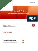 Entrega de Equipos Desmontados - IPT Macrosite Project