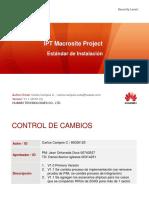 Estandar de Instalacion - IPT Macrosite V1.2