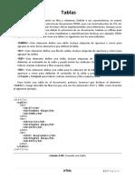 6.- Tablas HTML5