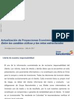 La economía colombiana enfrenta luces y sombras - Proyecciones macroeconómicas