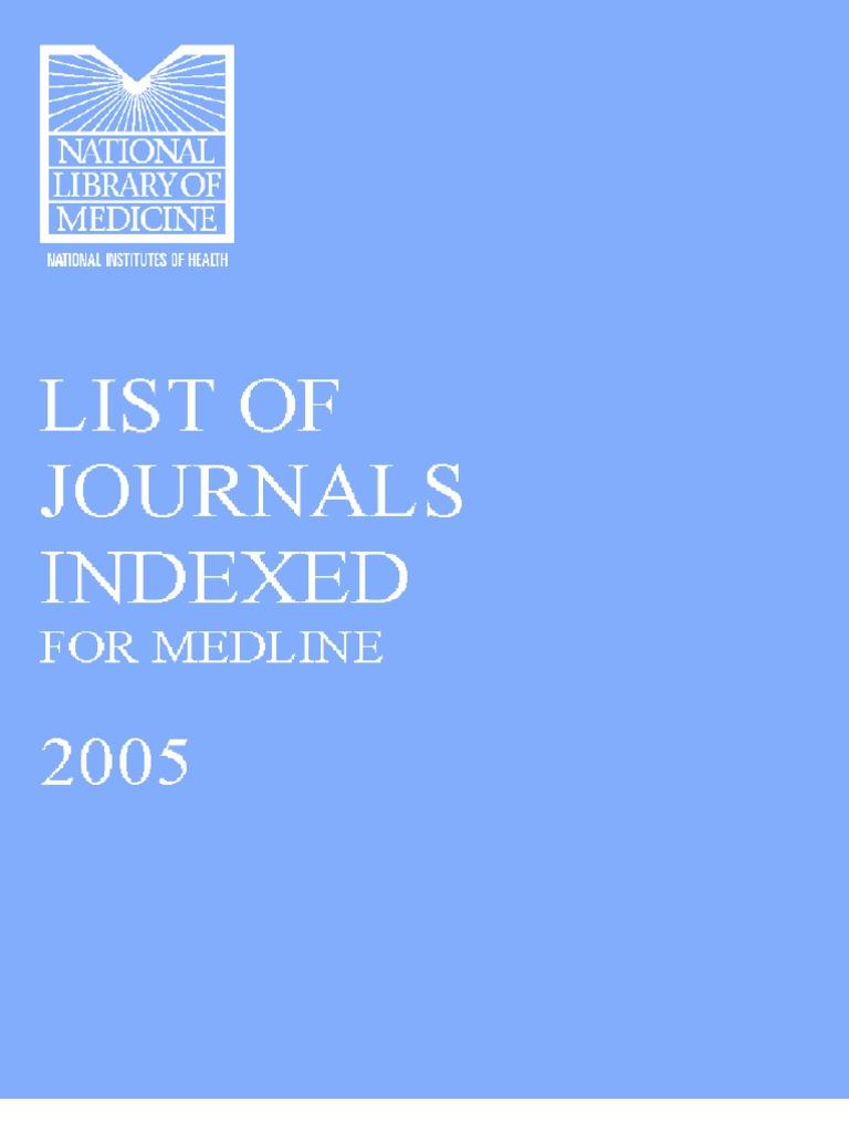 9f0446ce8ab 5.List of Journals Indexed for MEDLINE