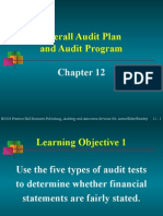 arens12_Overall Audit Plan and Audit Program