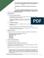 01. MEMORIA DESCRIPTIVA DE INSTALACIONES ELECTRICAS