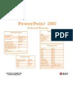 Power Point Keyboard Shortcuts (PowerPoint 2007)