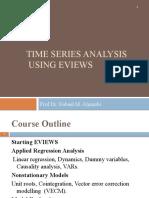 Time Series Analysis Using e Views