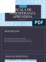 ESCALA DE DESESPERANZA APRENDIDA  TALLER