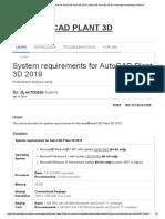 System requirements for AutoCAD Plant 3D 2019 _ AutoCAD Plant 3D 2019