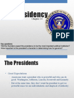 Ch. 14 - The Presidency (Overview)