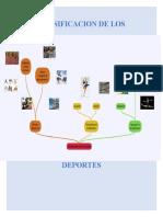TRABAJO DE CONSULTA CLASIFICACION DE LOS DEPORTES