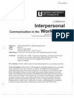 COMM 615 Interpersonal Communication in the Workplace