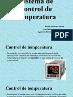 Sistema de control de temperatura