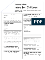 Primary School Childrens Homework Questionnaire