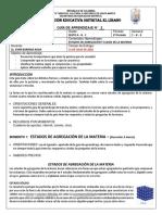 C NAT 6A-B-C G AP ESTADOS DE AGREGACION Y CLASES DE MATERIAS  SEM VII - VIII - IX PER II