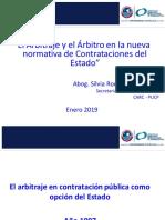 El Arbitraje y el árbitro en la nueva normativa de contrataciones del Estado  - Silvia Rodriguez