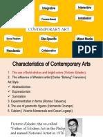 L5 Characteristics of Contemporary Arts