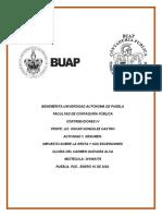 U1-A1, Resumen; ISR y sus Exenciones, Gloria del Carmen Guevara Alva