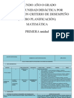 PUD (MICRO CURRICULAR) MATEMÁTICA  SEGUNDO 2016-2017