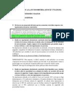 CAPITULO I, INTRODUCCION A LA ECONOMETRIA