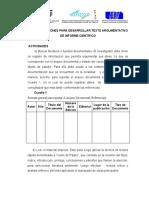 5-Recomendaciones  para  elaborar  texto argumentativo de informe  científico.