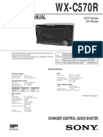Sony WX-C570R CHANGER service manual
