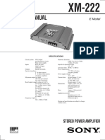 Sony XM-222  STEREO POWER AMPLIFIER service manual