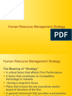 Human Resource Management Strategy