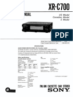 Sony XR-C700 FM AM cassette radio, stereo service manual