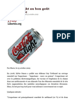 Un Coca light au bon goût d'aspartame