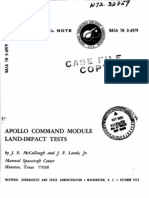 Apollo Command Module Land-Impact Tests