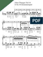 Für Elise Übungen Teil 10 Takt 32 bis 36 Zusammenspiel