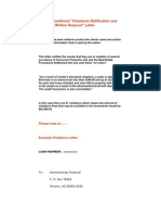 Sample Mortgage Violations Letter