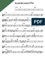 Paroles paroles (concert Fm)