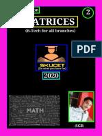 Notes on Matrices-2(R19 regulation)-By Shaik Gouse Basha