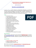 Call for Paper - Emerging Trends in Electrical , Electronics & Instrumentation Engineering