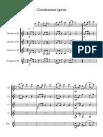 Gaudeamus igitur - Score and parts