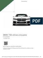 BMW 750i M 125k