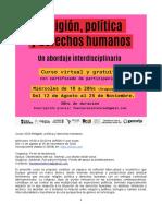 Programa Religón, política y DDHH 2020